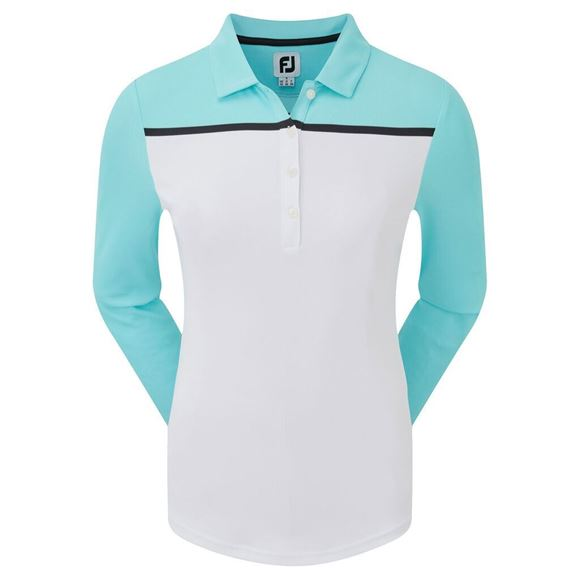 Picture of Footjoy Ladies Smooth Pique Long Sleeve Shirt - 96049