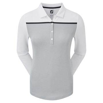Picture of Footjoy Ladies Smooth Pique Long Sleeve Shirt - 96048