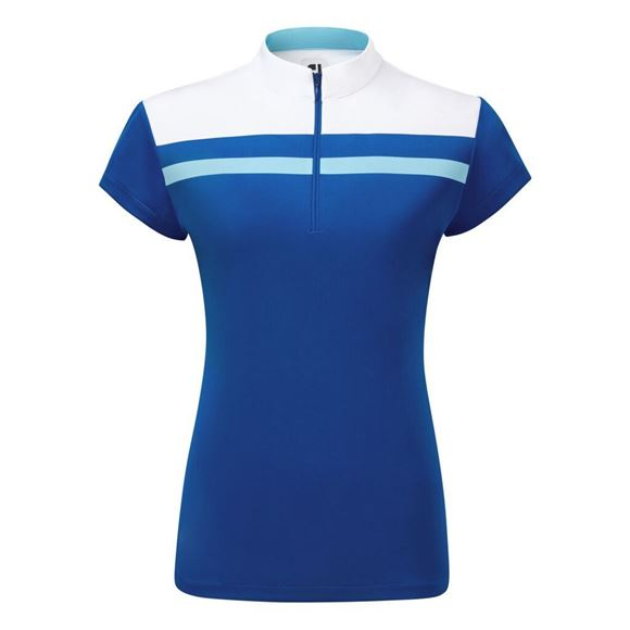Picture of Footjoy Ladies Micro Interlock Colour Block Shirt - 96047