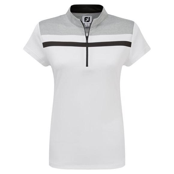 Picture of Footjoy Ladies Micro Interlock Colour Block Shirt - 96046