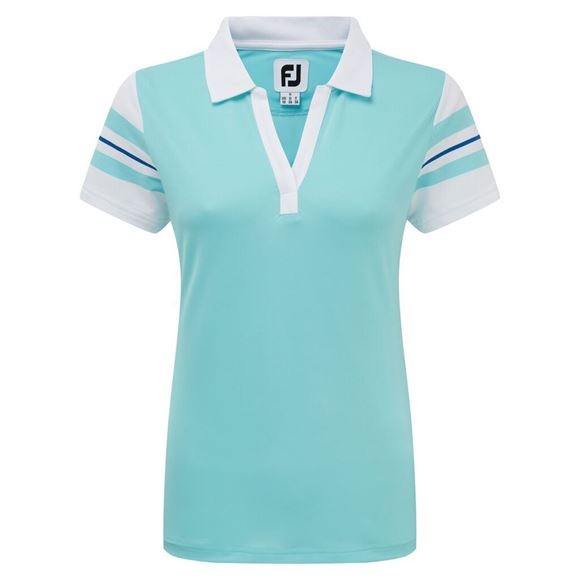 Picture of Footjoy Ladies Baby Pique Sleeve Stripe Shirt - 96041