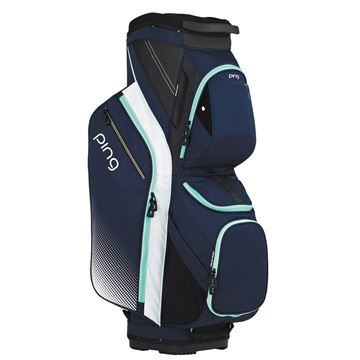 Picture of Ping Traverse G Le Ladies Cart Bag - Navy/White/Mint