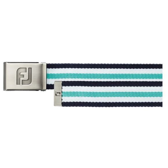 Picture of Footjoy Canvas Belt - Navy/White/Spearmint