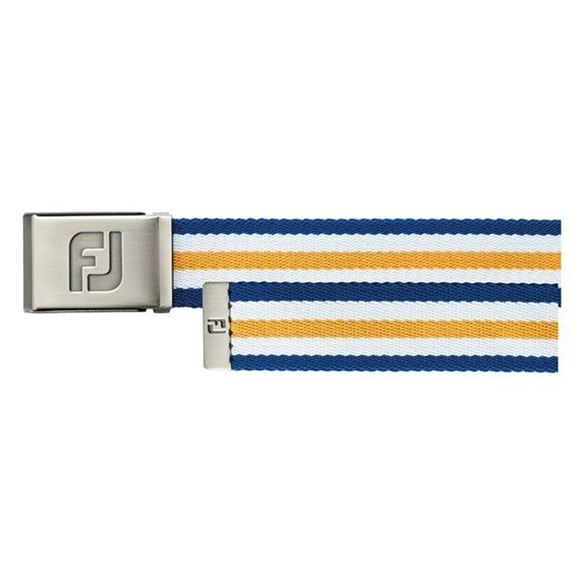 Picture of Footjoy Canvas Belt - Midnight/White/Melon