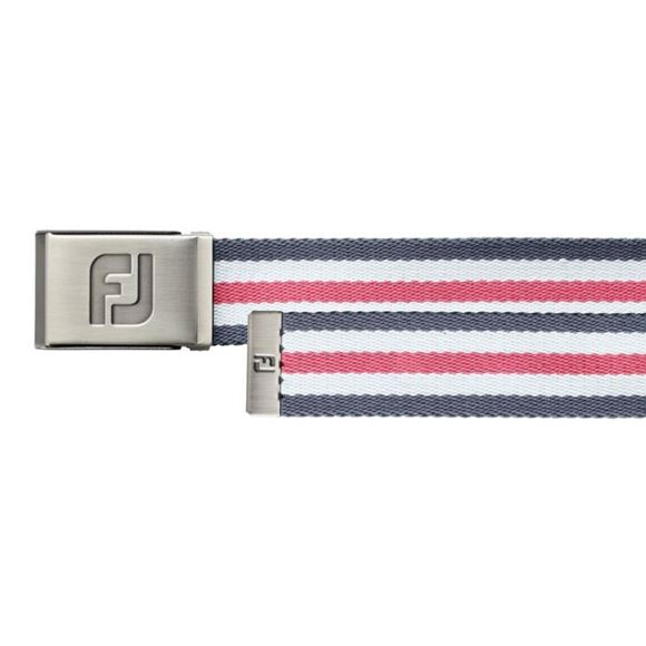 Picture of Footjoy Canvas Belt - Charcoal/White/Pink