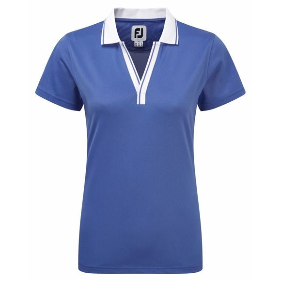 Picture of Footjoy Ladies Stretch Pique Open V-Neck Shirt - 94162