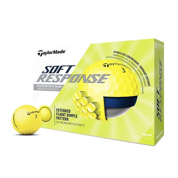 Picture of TaylorMade Soft Response Golf Balls (Yellow)