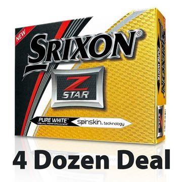 Picture of Srixon Z Star Golf Balls - White - 4 Dozen *PRINTED*