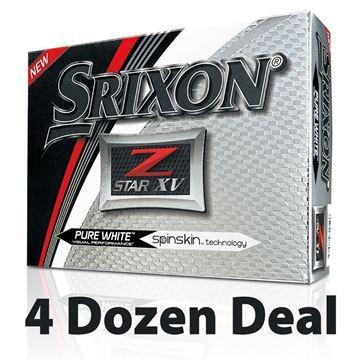 Picture of Srixon Z Star XV Golf Balls - White - 4 Dozen *PRINTED*