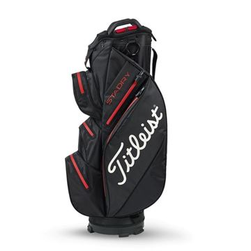 Picture of Titleist StaDry Waterproof Cart Bag 2020 - TB9CT7E-06 Black/Red