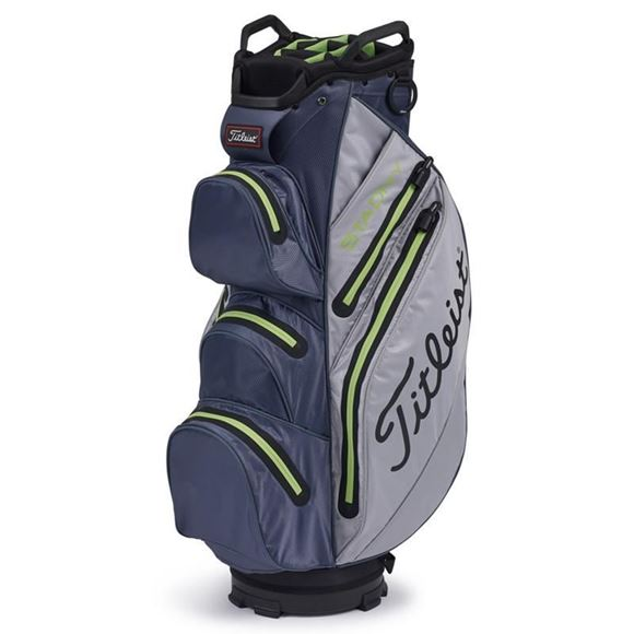 Picture of Titleist StaDry Cart Bag 2020 - Grey/Charcoal/Apple