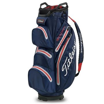 Picture of Titleist StaDry Cart Bag 2020 - TB9CT7-406 Navy/Sleet/Red