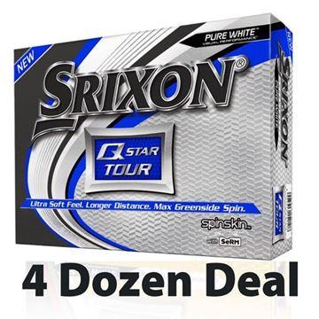 Picture of Srixon Q Star Golf Balls - White - 4 Dozen *PRINTED*