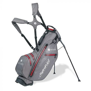 Picture of Motocaddy HydroFLEX Hybrid Cart and Stand Bag 2020 - Charcoal/Red