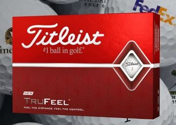 Picture of Titleist  Tru Feel Golf Balls Printed with Logo (min 12 dozen)