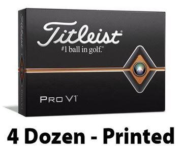Picture of Titleist Pro V1 2019 Model Golf Balls - 4 Dozen - Printed