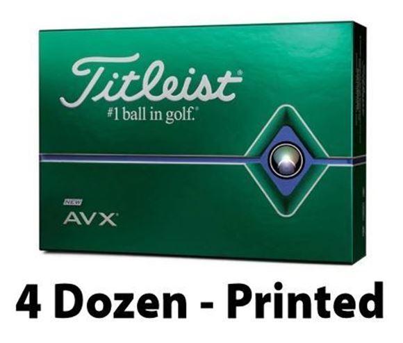 Picture of Titleist AVX 2020 Model Golf Balls - 4 Dozen - Printed