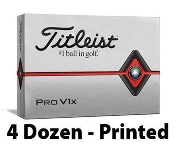 Picture of Titleist Pro V1x 2019 Model Golf Balls - 4 Dozen - Printed