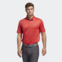 Picture of Adidas Mens Ultimate 365 Badge of Sport Polo Shirt - Real Coral/Grey