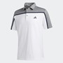 Picture of Adidas Mens Ultimate 365 Colorblock Polo Shirt - White / Grey Three Mel