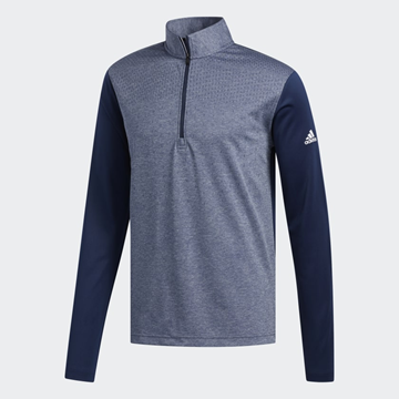 Picture of Adidas Mens Lightweight 1/4 Zip Pullover - Navy