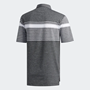 Picture of Adidas Mens Engineered Heathered Polo Shirt - White/Black/Grey