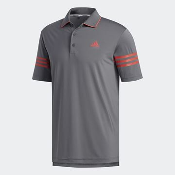 Picture of Adidas Mens Ultimate 365 Blocked Polo Shirt - Grey/Real Coral