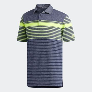 Picture of Adidas Mens Engineered Heathered Polo Shirt - Navy/Yellow
