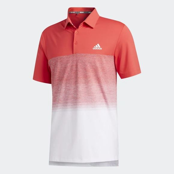 Picture of Adidas Mens Ultimate 365 Print Polo Shirt - Red/White