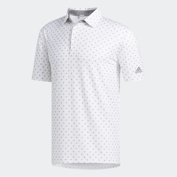 Picture of Adidas Mens Ultimate 365 Badge of Sport Polo Shirt - White/Grey