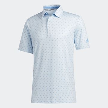 Picture of Adidas Mens Ultimate 365 Badge of Sport Polo Shirt - Sky Tint/Light Blue