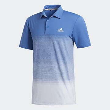 Picture of Adidas Mens Ultimate 365 Print Polo Shirt - Blue