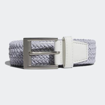 Picture of Adidas Mens Braided Stretch Belt - White/Grey