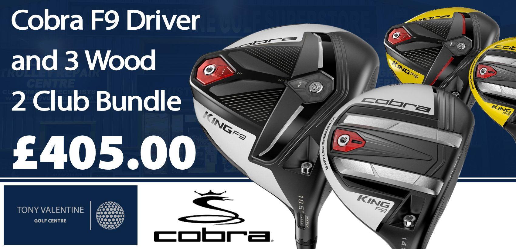 Cobra F9 Driver and 3 Wood, 2 Club Bundle