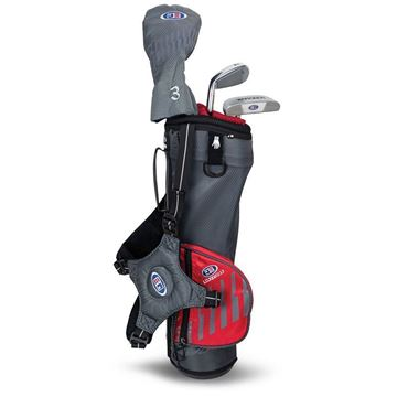 Picture of US Kids Junior UL39-s 3 Club Carry Set, Grey/Red Bag
