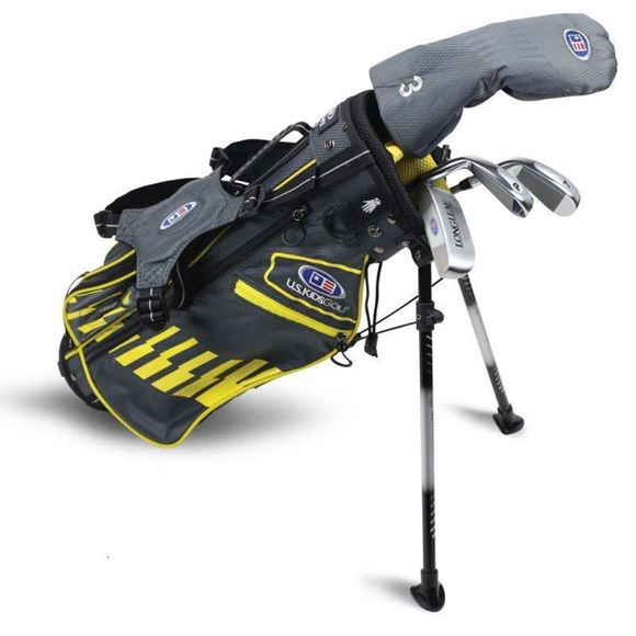 Picture of US Kids Junior UL42-s 4 Club Stand Set, Grey/Yellow Bag