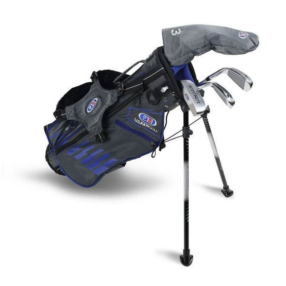 Picture of US Kids Junior UL45-s 4 Club Stand Set, Grey/Blue Bag