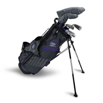 Picture of US Kids Junior UL54-s 5 Club Stand Set, Grey/Purple Bag