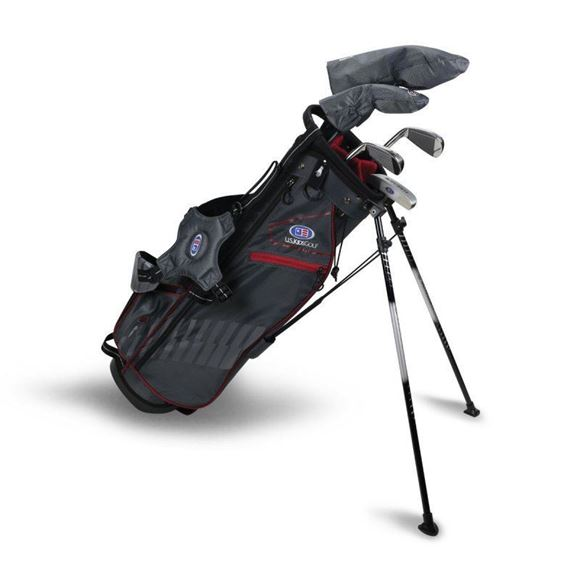Picture of US Kids Junior UL60-s 5 Club Stand Set, Grey/Maroon Bag