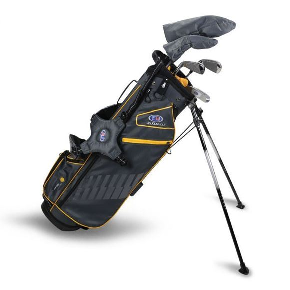 Picture of US Kids Junior UL63-s 5 Club Stand Set, Grey/Gold Bag