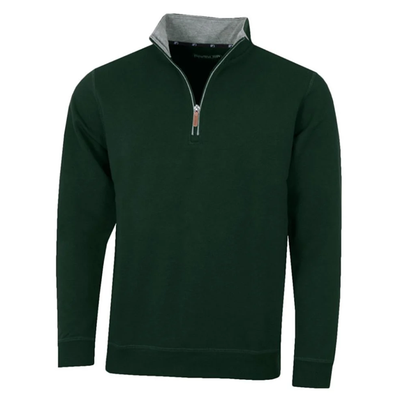 Picture of ProQuip Mens Mistral 1/4 Zip Pullover - Bottle Green