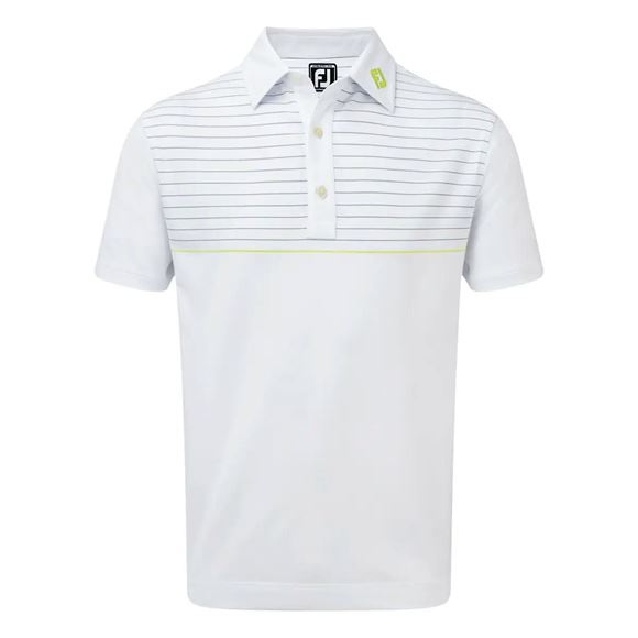 Picture of Footjoy Stretch Lisle Engineered Pinstripe Polo Shirt - 90092