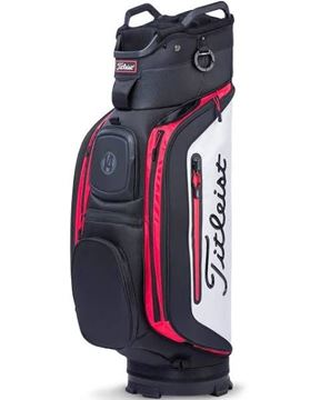 Picture of Titleist Club 14 Cart Bag - TB8CT6-016 Black/White/Red