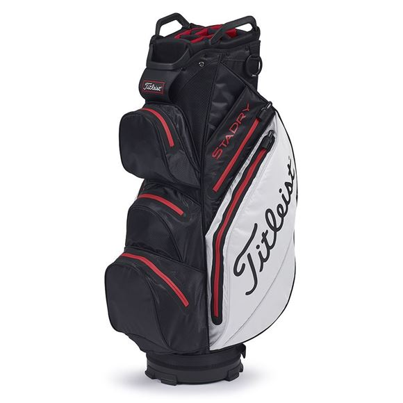 Picture of Titleist StaDry Cart Bag 2020 - TB9CT7E-016 Black/White/Red