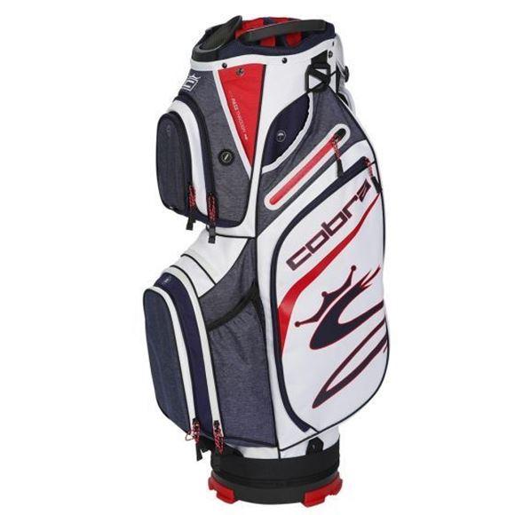 Picture of Cobra Ultralight  Cart Bag 2021 - Peacoat/Red/White