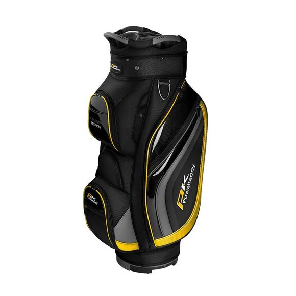 Picture of Powakaddy Premium Edition Cart Bag - Black/Gun Metal/Yellow