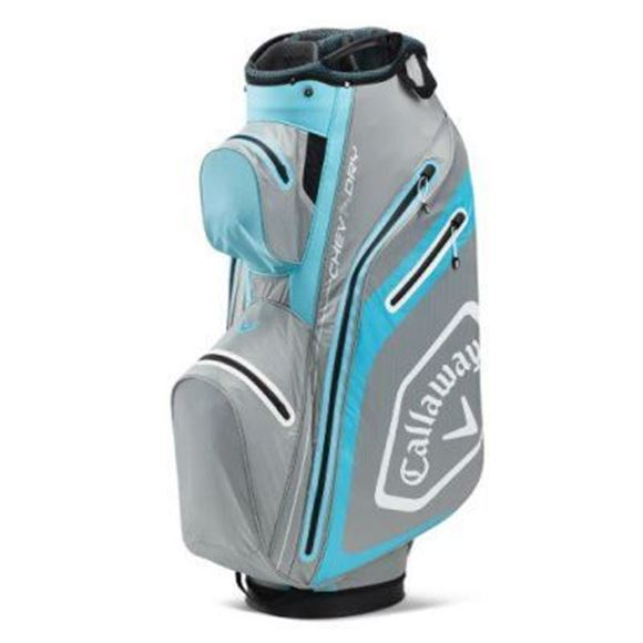 Picture of Callaway Chev Dry Cart Bag 2020 - Silver/Light Blue - 5120022