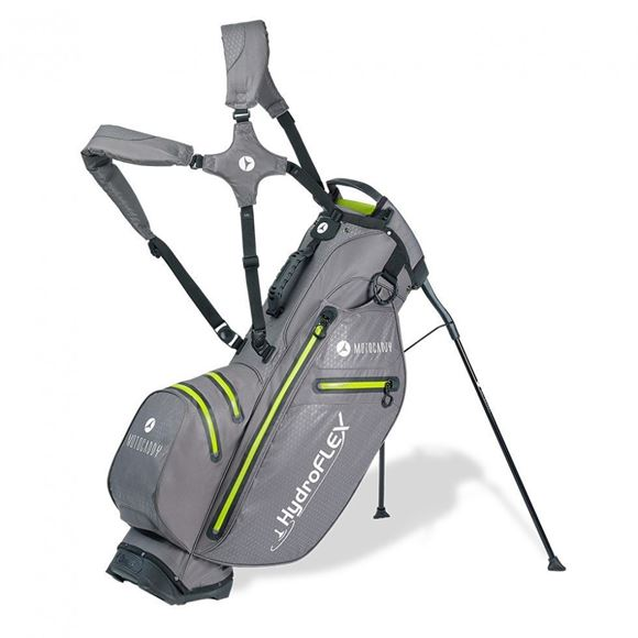 Picture of Motocaddy HydroFLEX Hybrid Cart and Stand Bag 2020 - Charcoal/Lime