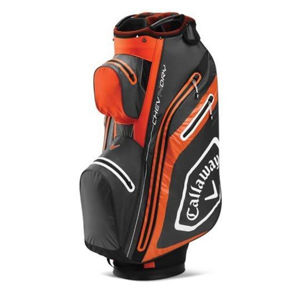 Picture of Callaway Chev Dry Cart Bag 2020 - Charcoal/Orange - 5120019