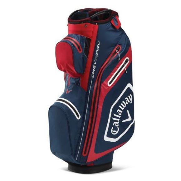Picture of Callaway Chev Dry Cart Bag 2020 - Navy/Red - 5120020
